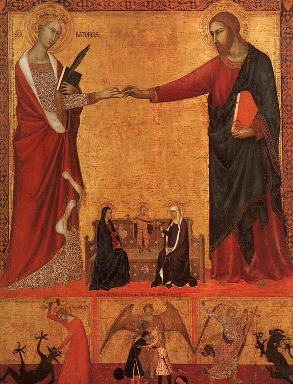 Barna da Siena The Mystical Marriage of St.Catherine France oil painting art