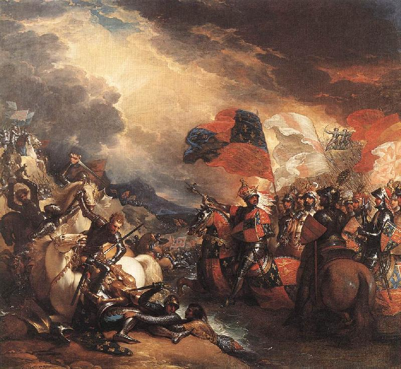 Benjamin West Edward III Crossing the Somme France oil painting art