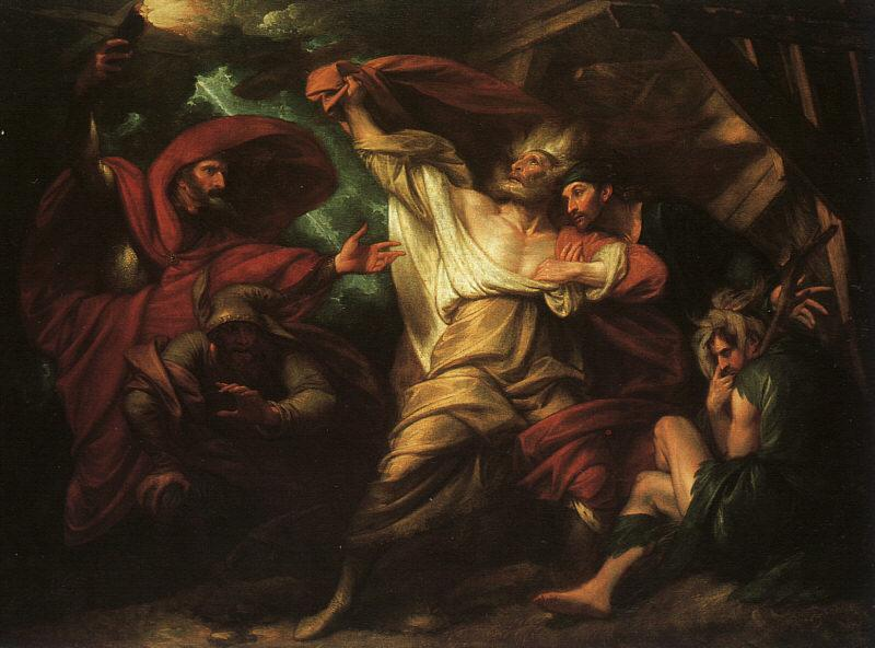 Benjamin West King Lear France oil painting art