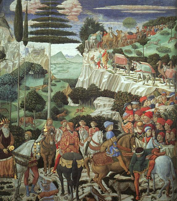 Benozzo Gozzoli Procession of the Magus Melchoir oil painting image