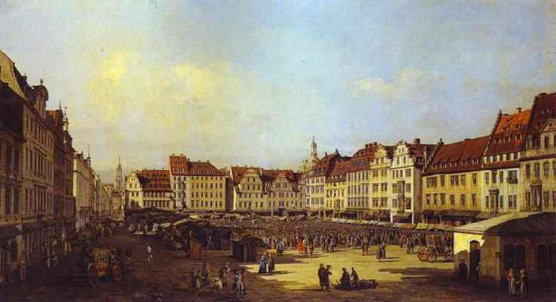 Bernardo Bellotto The Old Market Square in Dresden 4 oil painting image