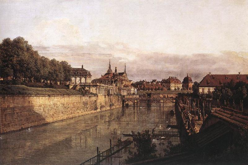 Bernardo Bellotto Zwinger Waterway oil painting image