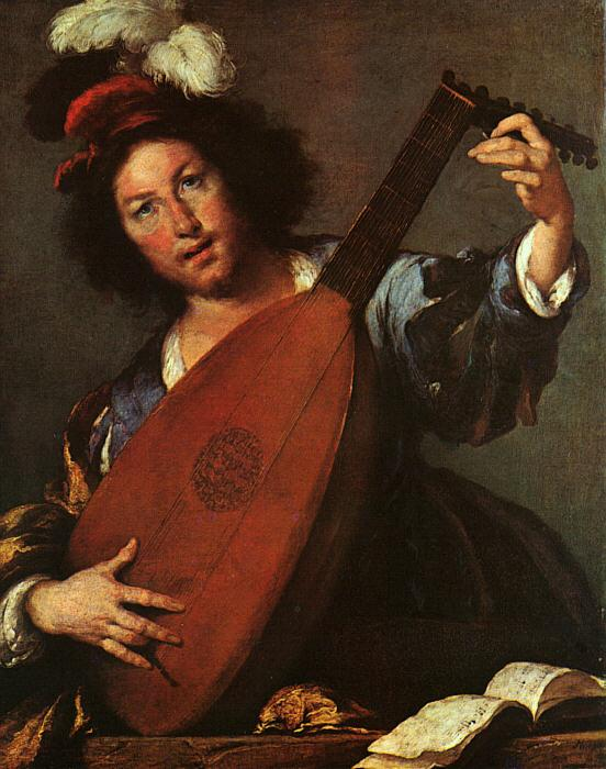 Bernardo Strozzi Lute Player France oil painting art
