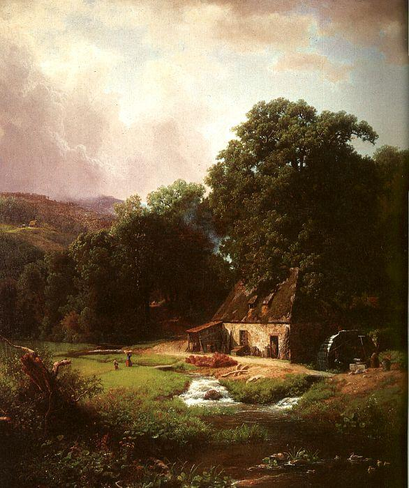 Bierstadt, Albert The Old Mill oil painting image
