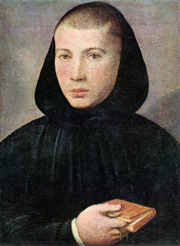 CAROTO, Giovanni Francesco Portrait of a Young Benedictine g oil painting image