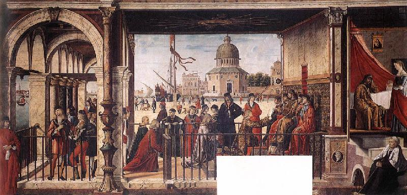 CARPACCIO, Vittore Arrival of the English Ambassadors g oil painting picture