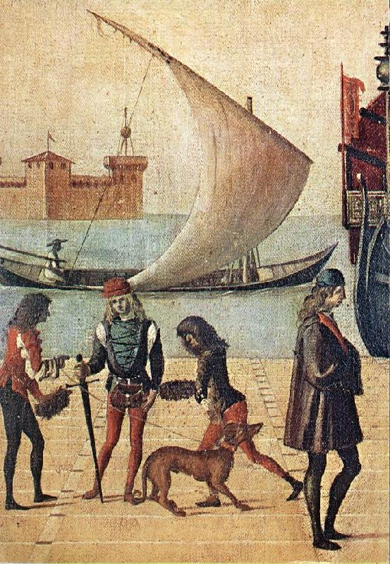 CARPACCIO, Vittore Arrival of the English Ambassadors (detail) f oil painting picture