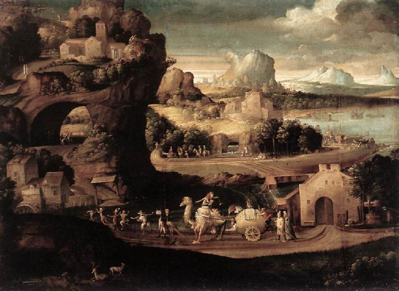 CARPI, Girolamo da Landscape with Magicians fs oil painting image