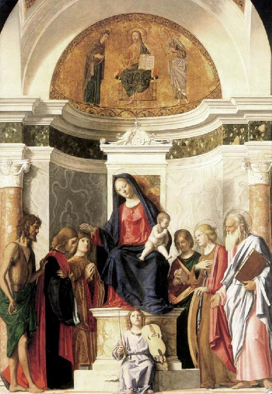 CIMA da Conegliano Madonna Enthroned with the Child dfg oil painting image