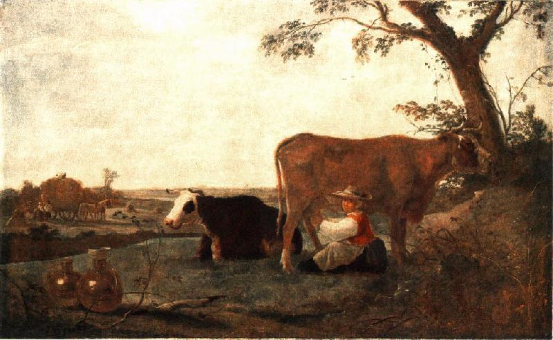 CUYP, Aelbert The Dairy Maid dfg oil painting image