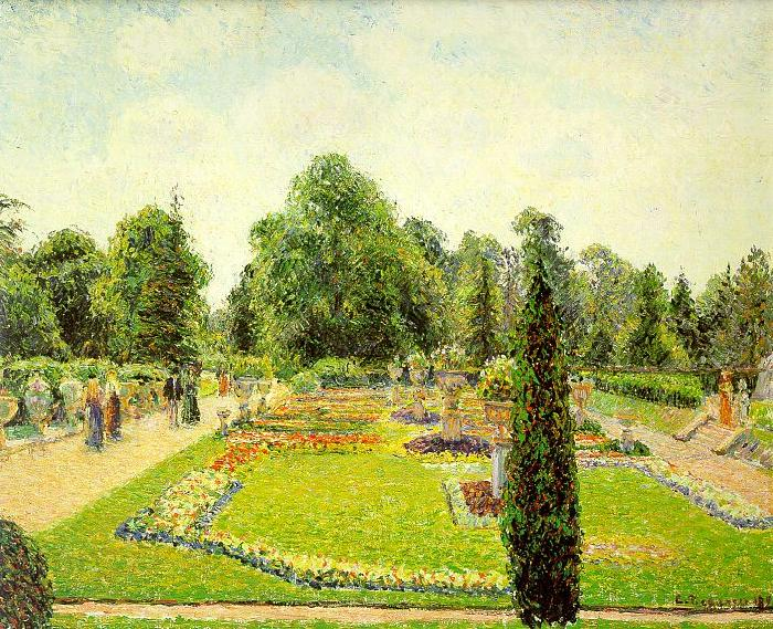 Camille Pissaro Kew, The Path to the Main Conservatory France oil painting art