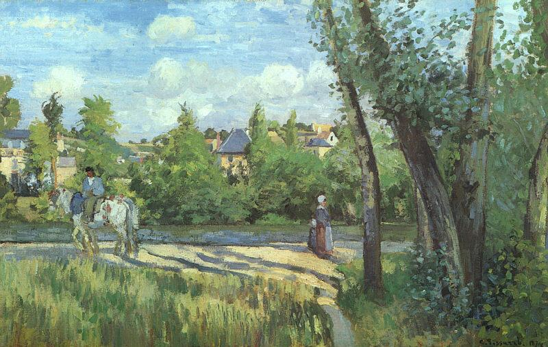 Camille Pissaro Sunlight on the Road, Pontoise France oil painting art