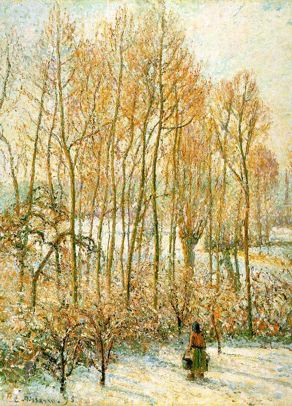 Camille Pissaro Morning Sunlight on the Snow, Eragny sur Epte France oil painting art
