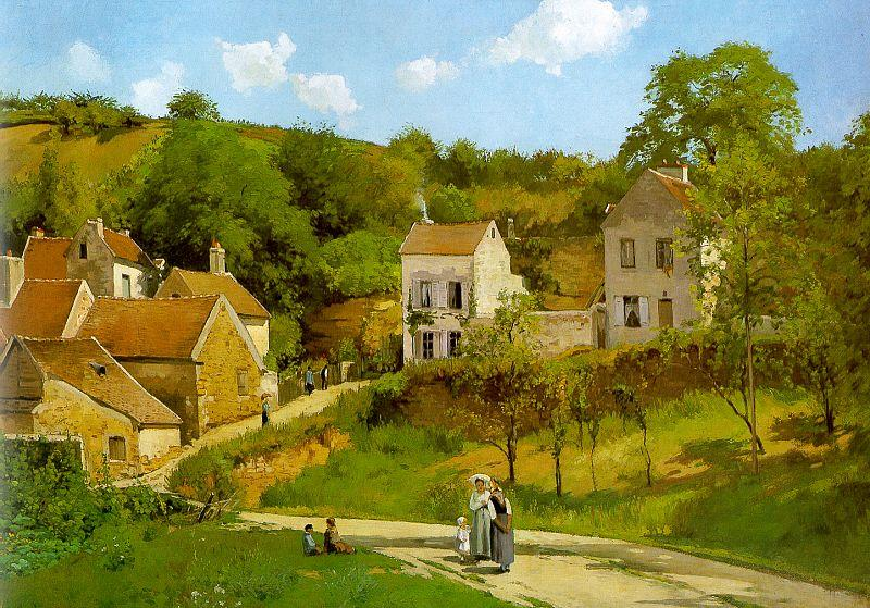 Camille Pissaro The Hermitage at Pontoise France oil painting art