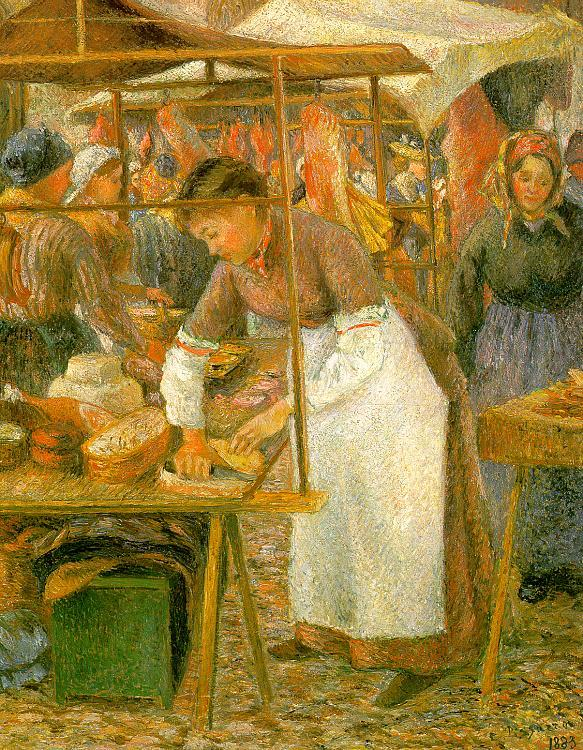 Camille Pissaro The Pork Butcher oil painting image