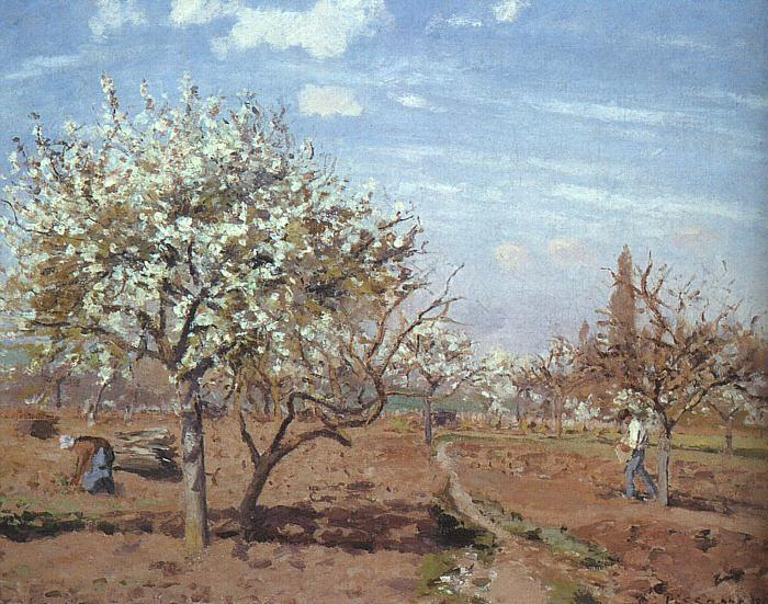 Camille Pissaro Orchard in Bloom at Louveciennes France oil painting art