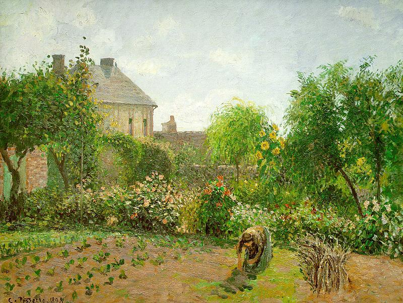 Camille Pissaro The Artist's Garden at Eragny France oil painting art
