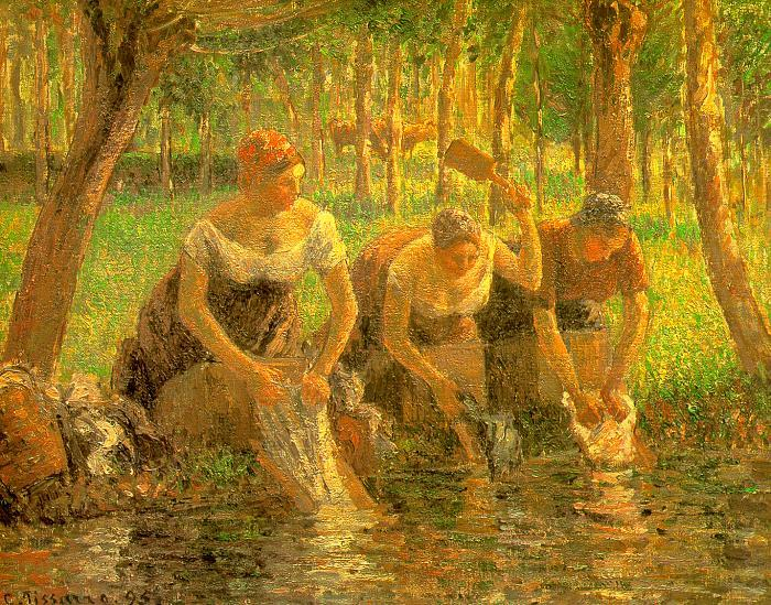 Camille Pissaro Washerwoman, Eragny sur Epte France oil painting art