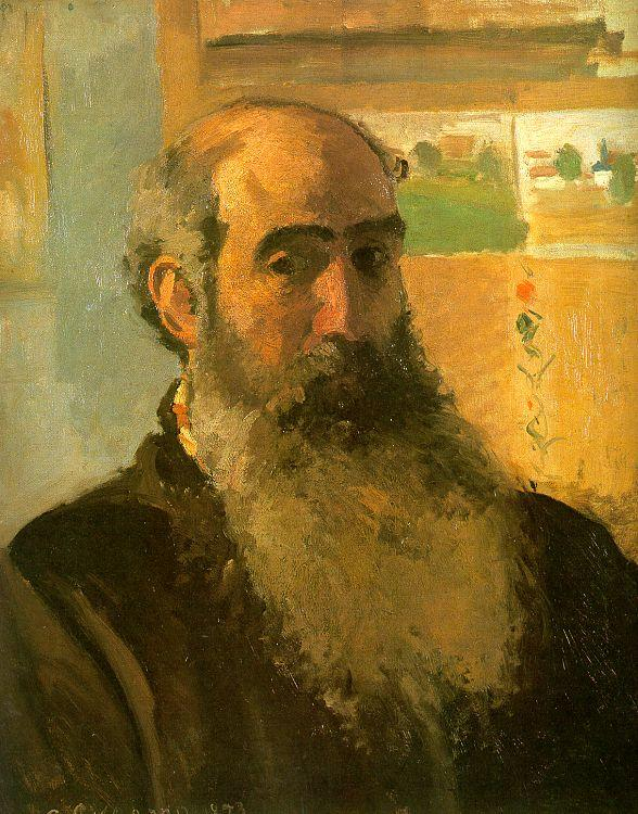 Camille Pissaro Self Portrait France oil painting art