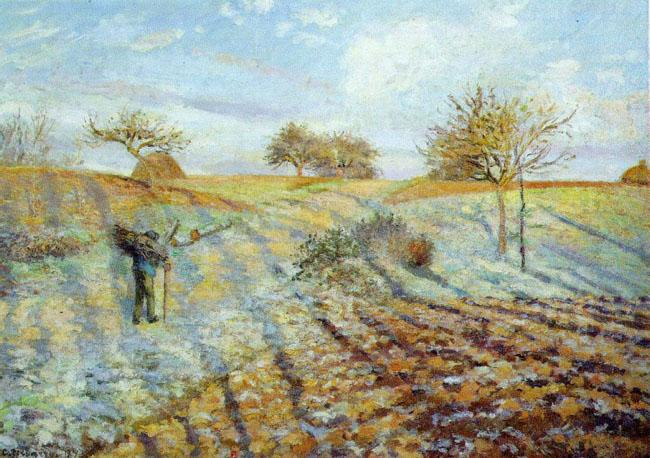 Camille Pissaro Hoarfrost oil painting image