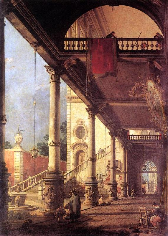 Canaletto Perspective fg oil painting image