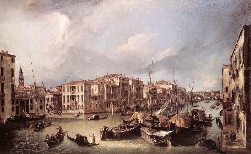Canaletto Grand Canal: Looking North-East toward the Rialto Bridge ffg oil painting image