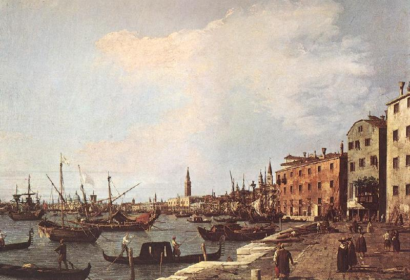 Canaletto Riva degli Schiavoni - west side dfg oil painting image