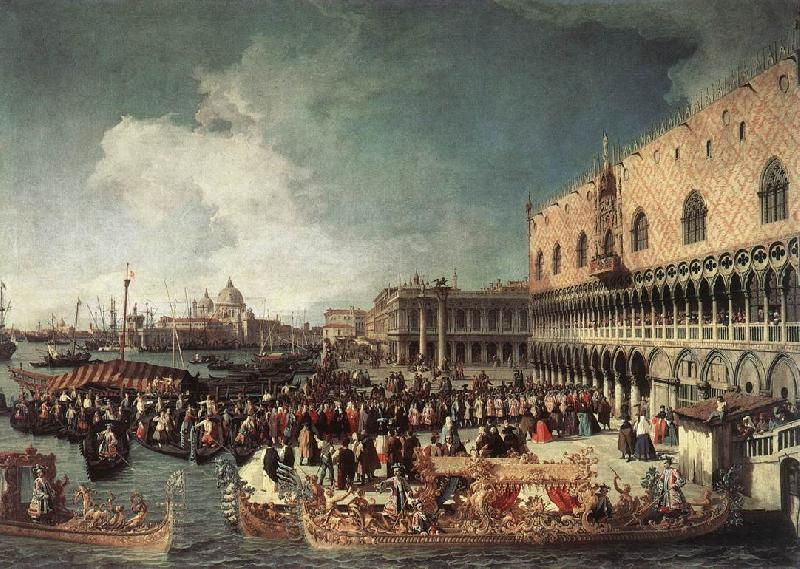 Canaletto Reception of the Ambassador in the Doge s Palace oil painting image