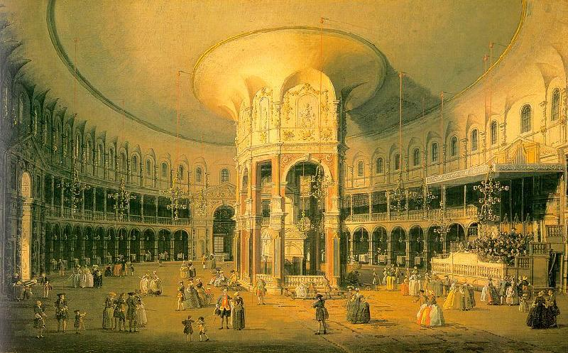 Canaletto Ranelagh, the Interior of the Rotunda oil painting image