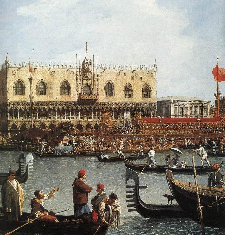 Canaletto Return of the Bucentoro to the Molo on Ascension Day (detail) d oil painting image