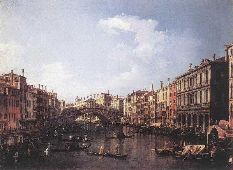 Canaletto The Rialto Bridge from the South fdg oil painting image