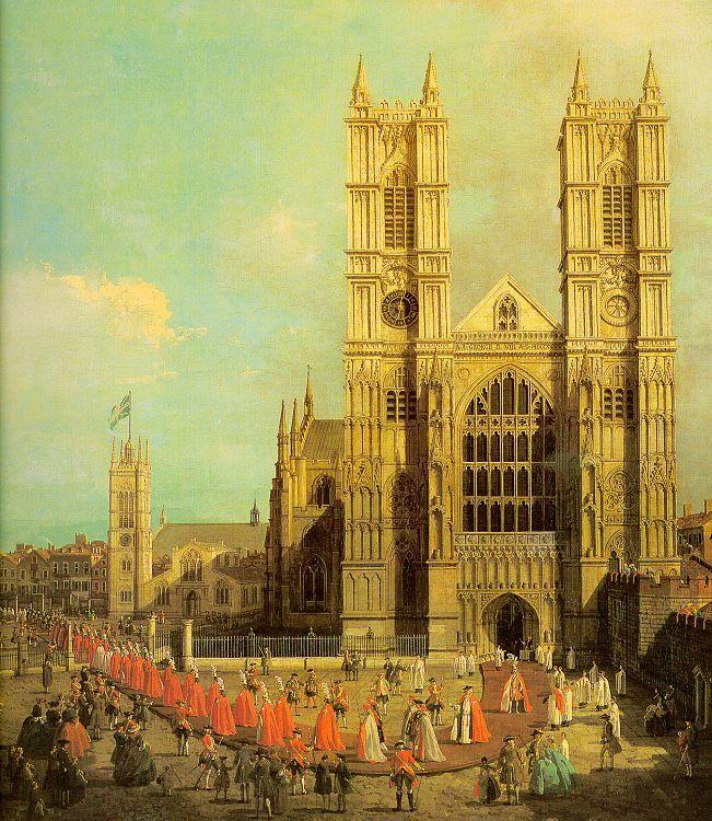 Canaletto Westminster Abbey with a Procession of the Knights of Bath oil painting image