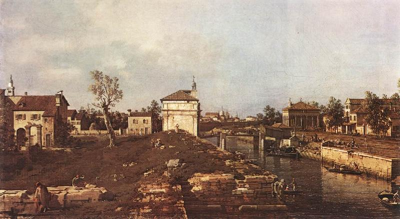 Canaletto The Brenta Canal at Padua dsf oil painting image