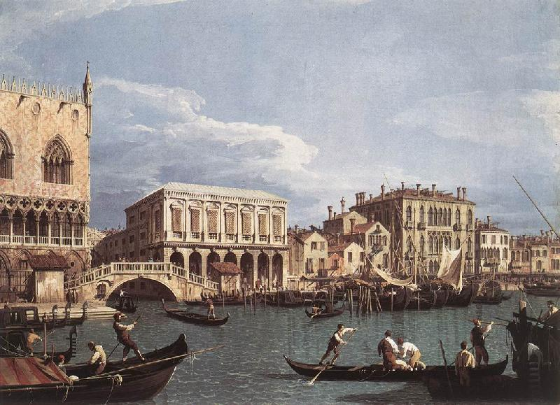 Canaletto The Molo and the Riva degli Schiavoni from the Bacino di San Marco oil painting image