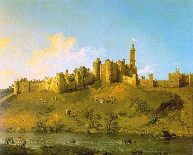 Canaletto Alnwick Castle, Northumberland oil painting image