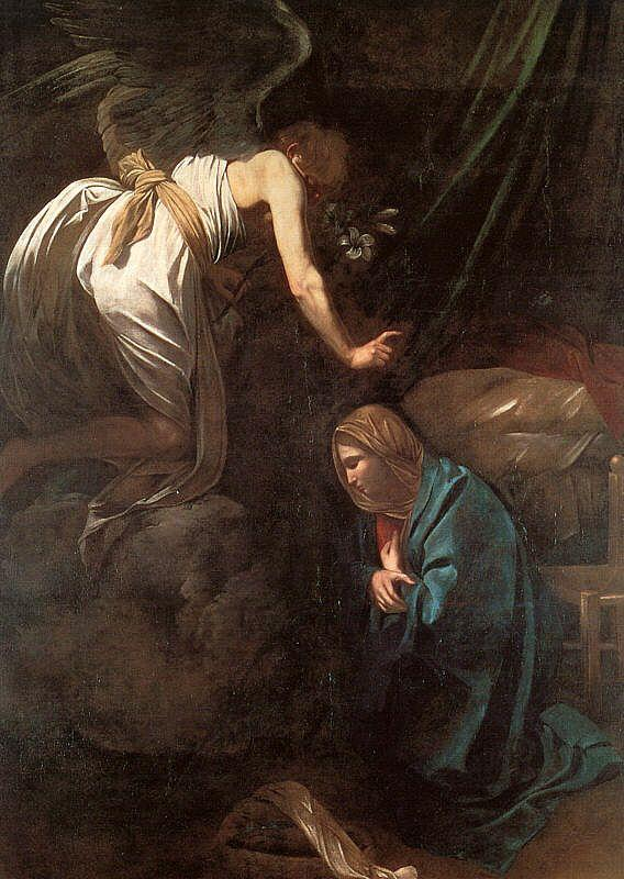 Caravaggio The Annunciation oil painting image