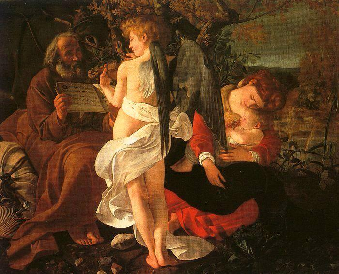 Caravaggio Rest During the Flight into Egypt oil painting image