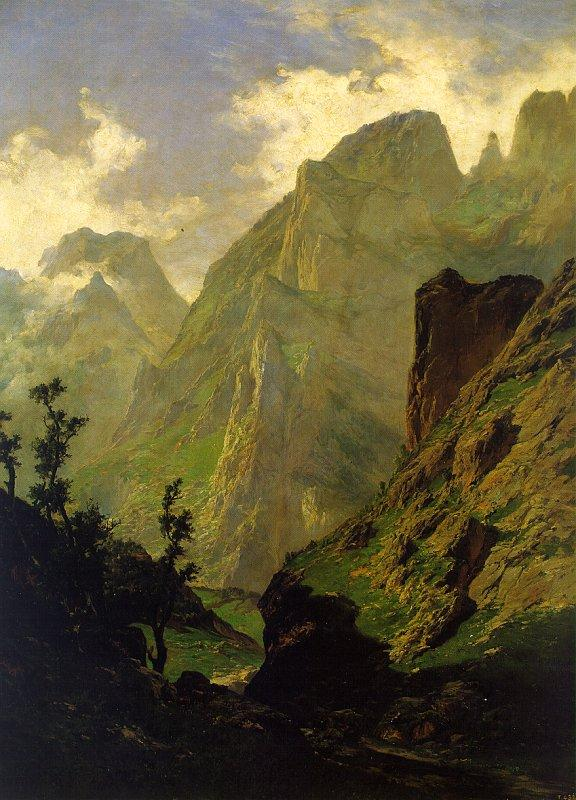Carlos de Haes The Peaks of Europe,  The Mancorbo Canal oil painting image