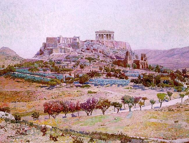 Charles Gifford Dyer Acropolis France oil painting art