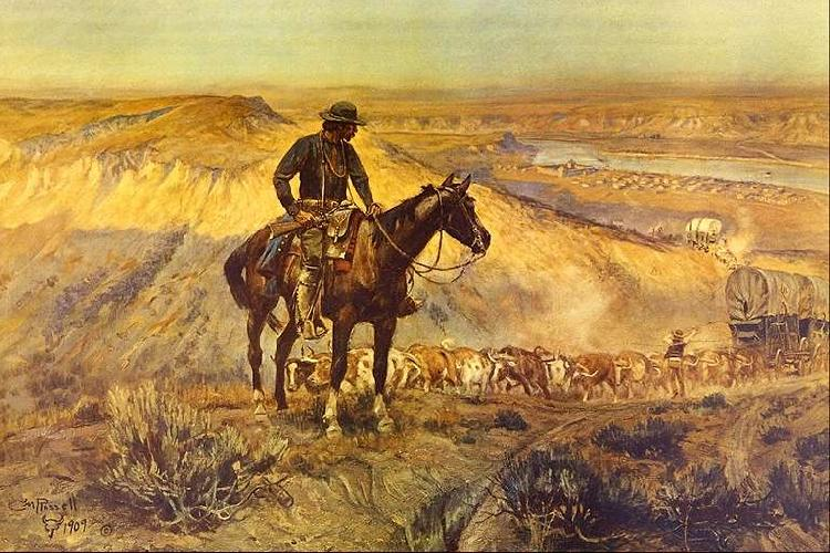 Charles M Russell The Wagon Boss oil painting image