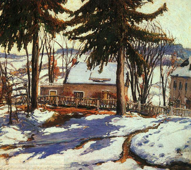 Charles Reiffel February Thaw, Silvermine Connecticut France oil painting art
