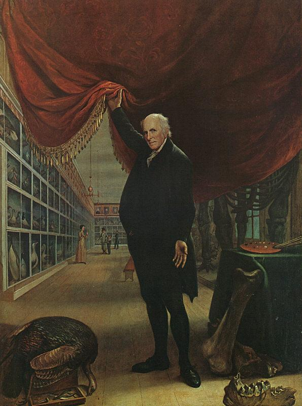 Charles Wilson Peale The Artist in his Museum France oil painting art