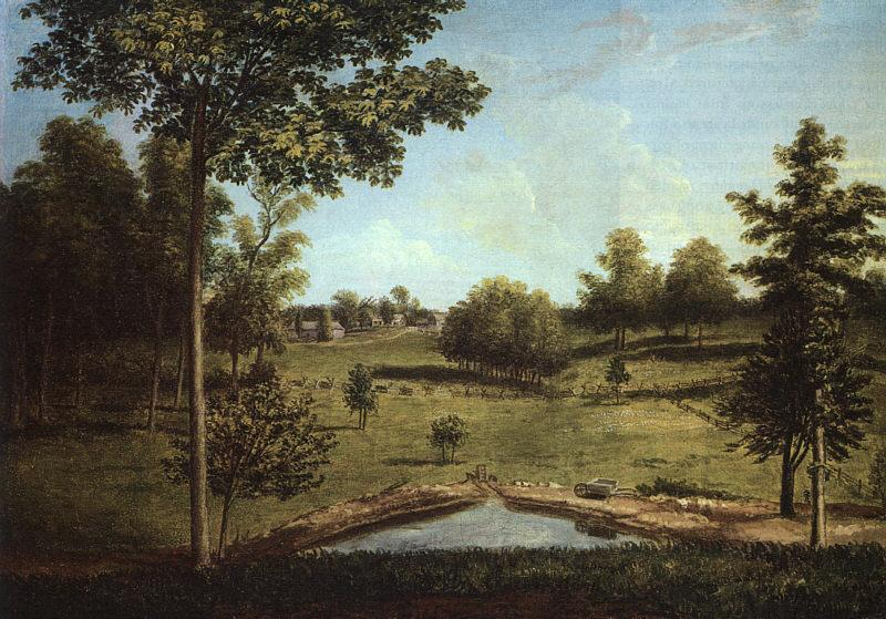 Charles Wilson Peale Landscape Looking Towards Sellers Hall from Mill Bank France oil painting art