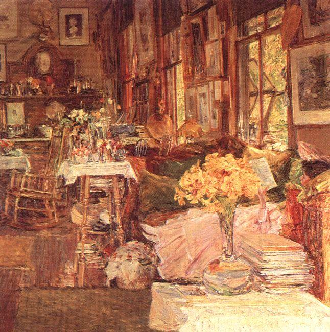 Childe Hassam The Room of Flowers France oil painting art