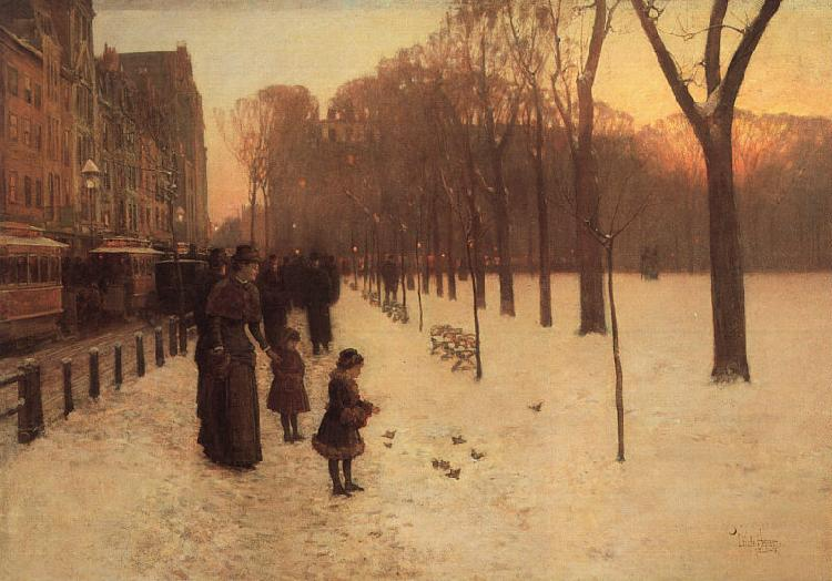 Childe Hassam Boston Common at Twilight France oil painting art