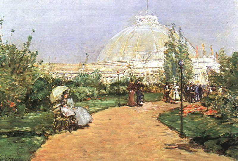 Childe Hassam The Chicago Exhibition, Crystal Palace France oil painting art
