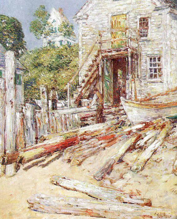 Childe Hassam Rigger's Shop at Provincetown, Mass France oil painting art