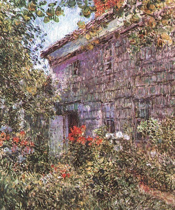 Childe Hassam Old House and Garden at East Hampton, Long Island France oil painting art