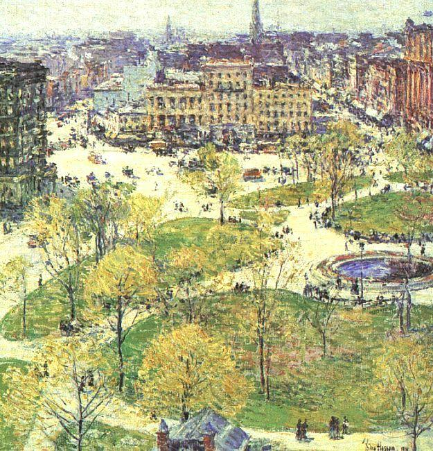 Childe Hassam Union Square in Spring France oil painting art