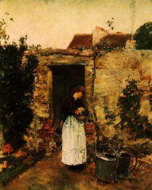 Childe Hassam The Garden Door France oil painting art